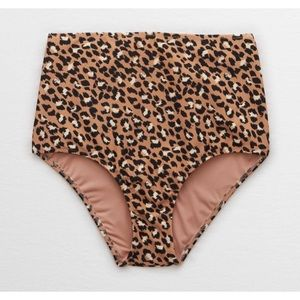 NWT Aerie Leopard high waist full coverage bottoms